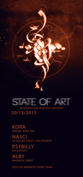 Party Flyer STATE OF ART : DARKPSY FRIDAY ;) 20 Dec '13, 22:00
