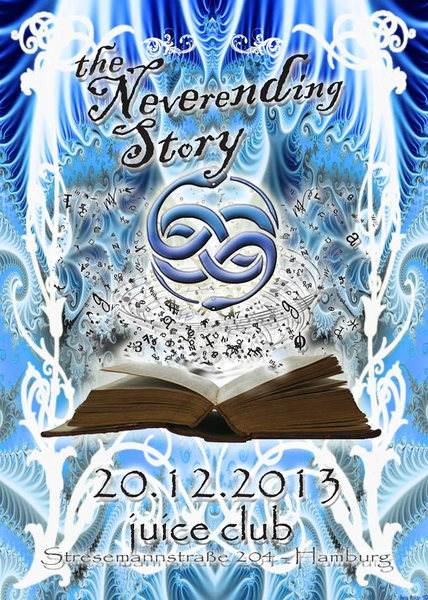 Party Flyer The Neverending Story: Atom Device & D-Twin First time live in Germany 20 Dec '13, 23:00