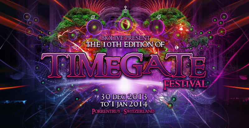 Party Flyer TIMEGATE 10 Years - New Year Festival 30 Dec '13, 20:00