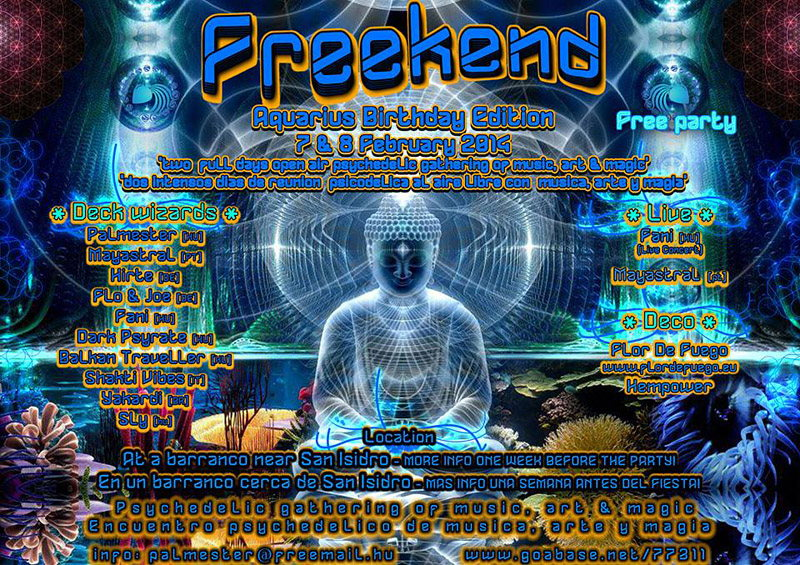 Party Flyer Freekend - Aquarius Birthday Edition 7 Feb '14, 20:00