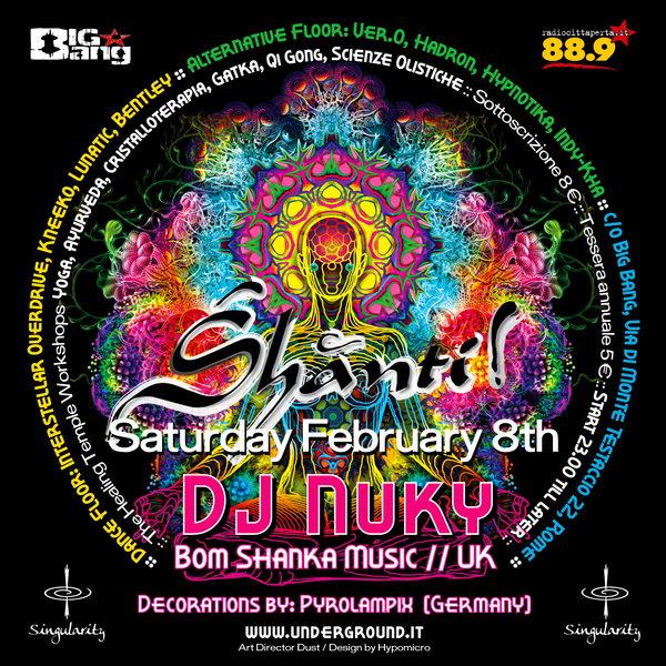 SHANTI! :: DJ NUKI [BOOM SHANKA MUSIC] (UK) + Deco by Kλαυδια 8 Feb '14, 23:00