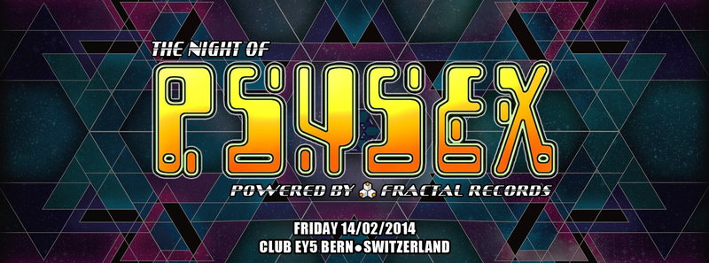 Party Flyer The night of PSYSEX (Live + Retro Set) 14 Feb '14, 22:00