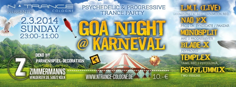 Goa Night @ Karneval 2 Mar '14, 23:00
