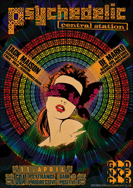Party Flyer Psychedelic Central Station 11 Apr '14, 22:00