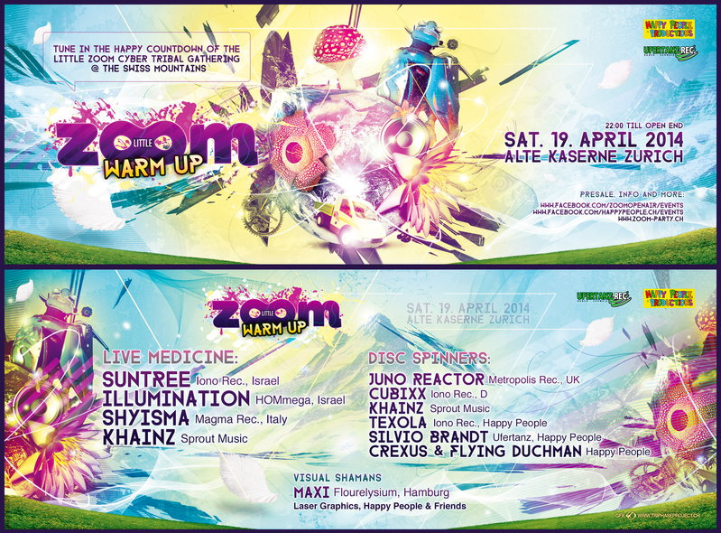 Party Flyer Little ZOOM Warm UP 19 Apr '14, 22:00