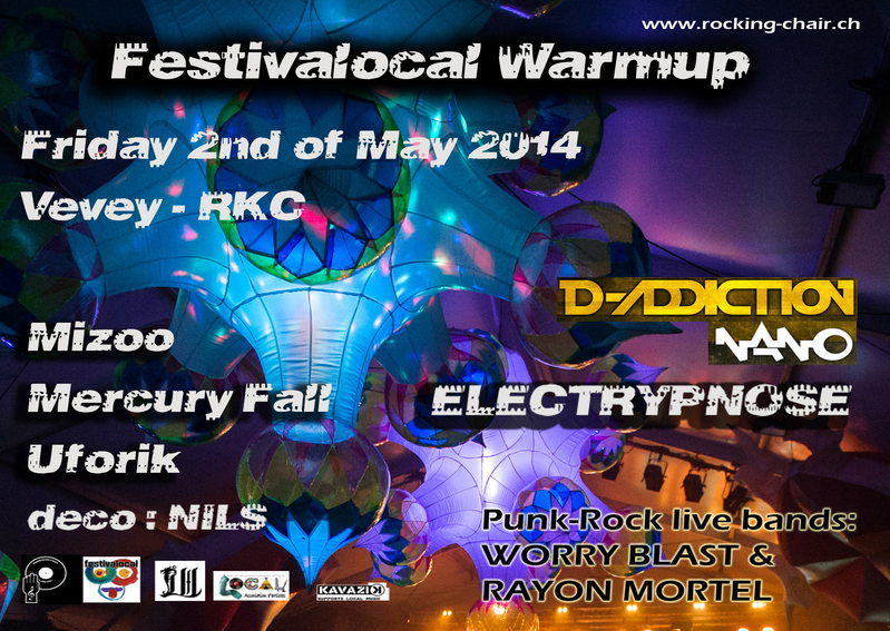 Party Flyer Festivalocal Warm Up 2014 2 May '14, 22:00