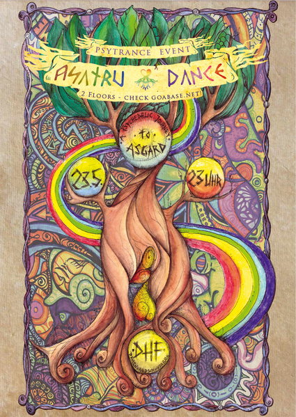 Party Flyer -] asatru dance [- a psychedelic journey to asgard 23 May '14, 23:00
