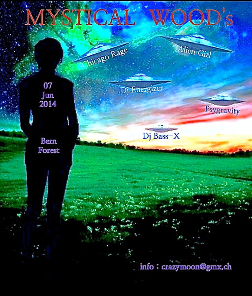 Party Flyer Mystical Wood's Phase 3 7 Jun '14, 22:00