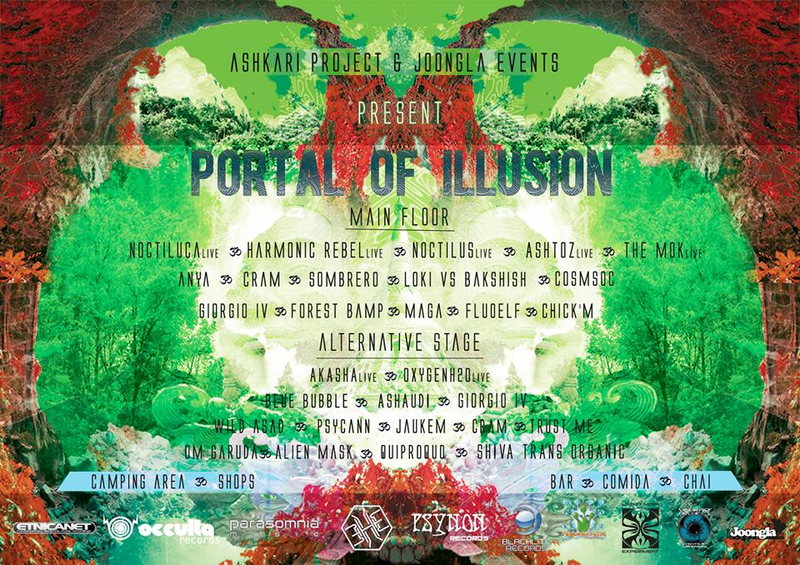 Party Flyer PORTAL OF ILLUSION - 24H OpenAir Psychedelic Gathering - 7 Jun '14, 16:00