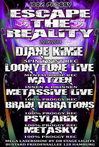 Party Flyer ૐ escape the reality ૐ 20 Jun '14, 23:00