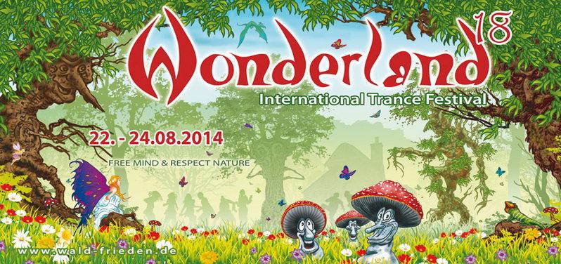 Party Flyer Waldfrieden - Wonderland 18 Open Air Festival 2014 22 Aug '14, 13:00