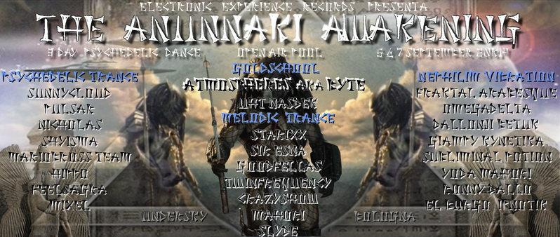 Party Flyer THE ANUNNAKI AWAKENING - La leggenda degli dèi scesi dal cielo // 3day 6 Sep '14, 09:00