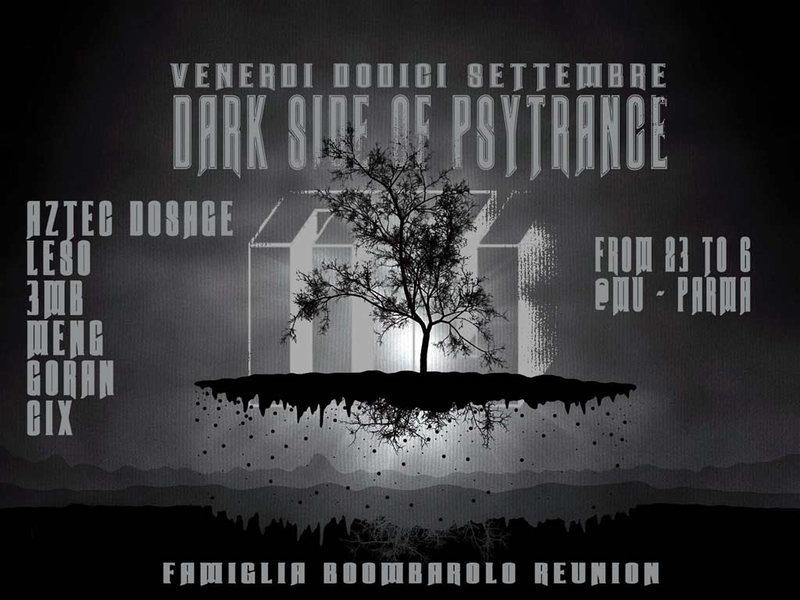 Party Flyer !! DARK SIDE of psytrance !! -- Aztec Dosage LIVE + Siscosis Leso Meng Goran Cix 12 Sep '14, 23:00