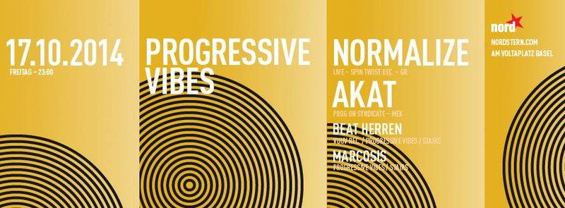 Party Flyer Progressive Vibes 17 Oct '14, 23:00
