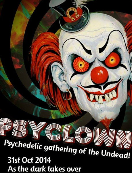 Party Flyer psy clown 31 Oct '14, 22:00