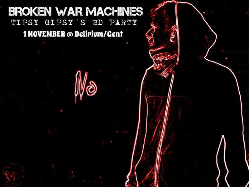 Party Flyer Broken War Machines!-FREE PARTY-Ghent center 1 Nov '14, 22:00