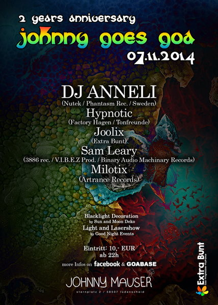 Johnny goes Goa with Anneli and many more 7 Nov '14, 22:00