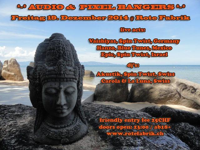 Party Flyer Audio & Pixel Bangers @ Rote Fabrik Live: Epic, Hanzo 19 Dec '14, 23:00
