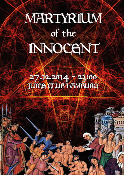 Party Flyer MARTYRIUM OF THE INNOCENT II 27 Dec '14, 23:00