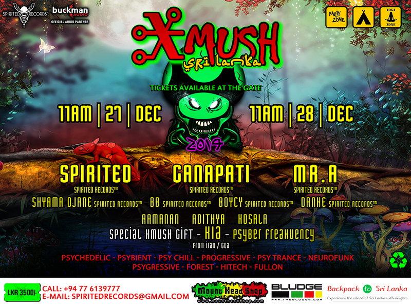 Party Flyer XMUSH ▲●• SRI LANKA •●▲ ❅ 2014 ❅ ▲●• 27 Dec '14, 11:00