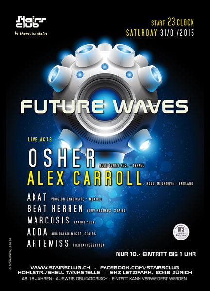 Party Flyer Future Waves 31 Jan '15, 23:00