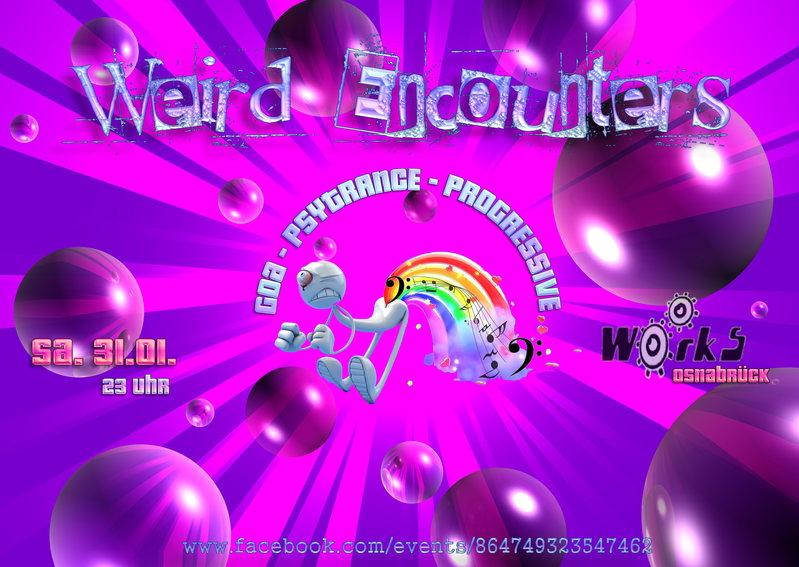 Party Flyer Weird Encounters 31 Jan '15, 23:00