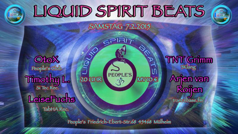 Party Flyer LIQUID SPIRIT BEATS (Step One 2015) 7 Feb '15, 20:00
