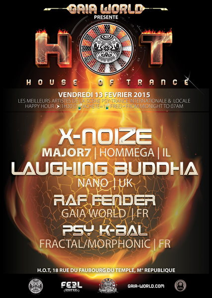 Party Flyer H.O.T (House of Trance) 13 Feb '15, 23:30