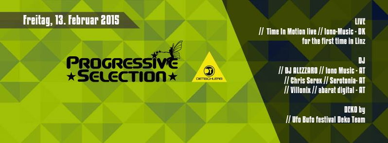 Party Flyer ▲ PROGRESSIVE SELECTION pres. TIME IN MOTION live 13 Feb '15, 22:00