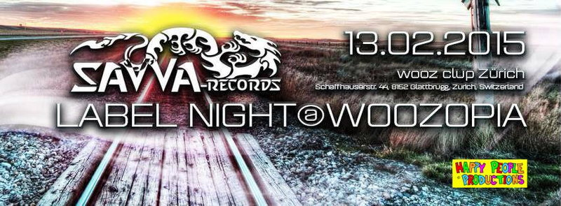 Party Flyer SAVVA RECORDS LABEL NIGHT @WOOZOPIA | ISMIR, D-VISION and many more 13 Feb '15, 22:00