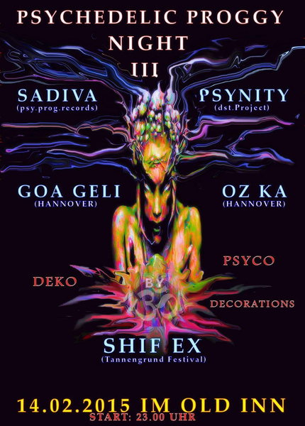 Party Flyer PSYCHEDELIC PROGGY NIGHT 3 13 Feb '15, 23:00