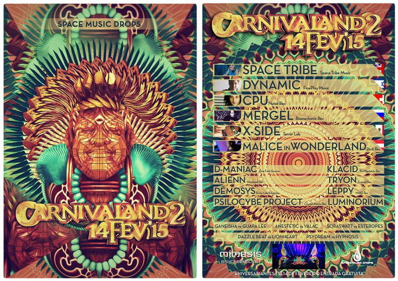 Party Flyer SPACE MUSIC DROPS APRESENTA !!! ██►CARNIVALAND 2 ◄██ 14 Feb '15, 23:30