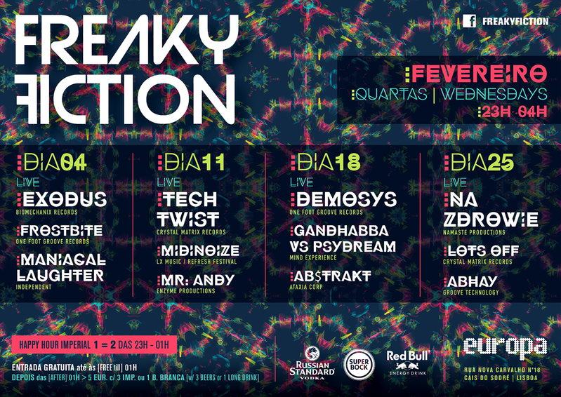 Party Flyer FREAKY FICTION 18 Feb '15, 23:00