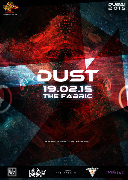 Party Flyer RAVELATIONS Presents DUST ( Looney Moon Records,Italy) & SINGLE VISION 19 Feb '15, 22:00