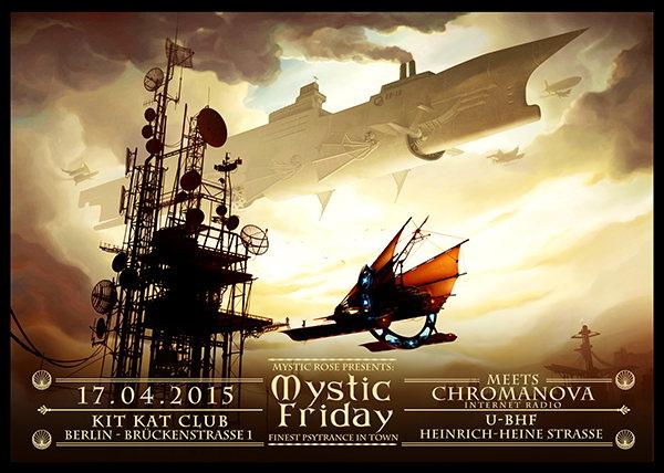 Party Flyer Mystic Friday meets Parasense meets Chromanova Internet Radio 17 Apr '15, 23:00