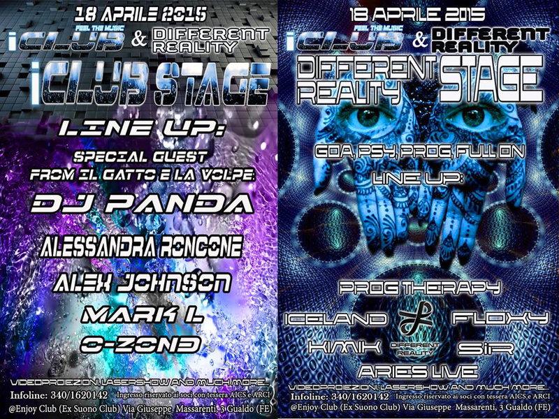 DIFFERENT REALITY party @ Ferrara 18 Apr '15, 23:00