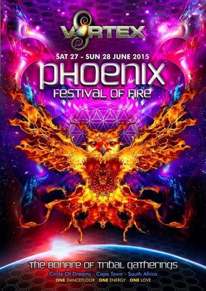 Party Flyer Phoenix Festival of Fire 27 Jun '15, 10:00
