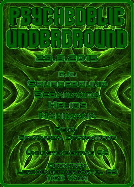Psychedelic Underground 29 Aug '15, 23:00