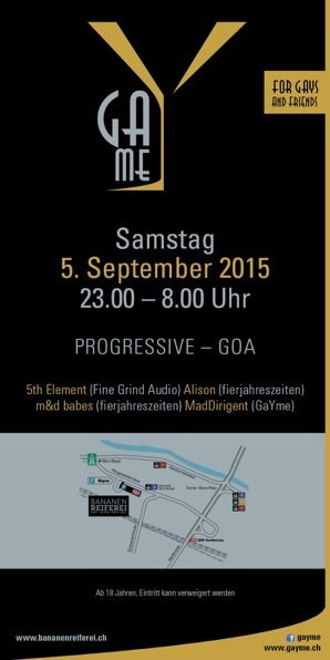 Party Flyer GaYme Party 5 Sep '15, 23:00