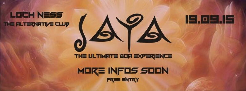 Party Flyer JAYA The Ultimate Goa Experience 19 Sep '15, 21:00