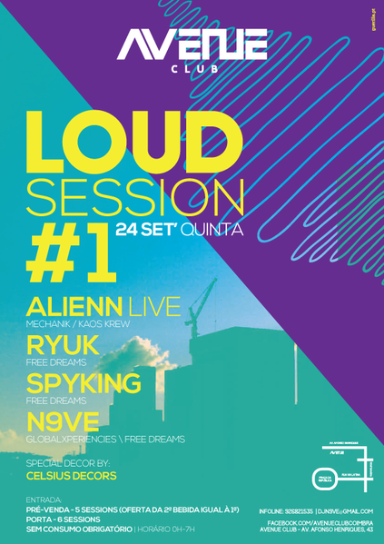 Party Flyer Loud Session #01 24 Sep '15, 23:30