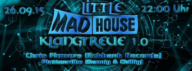 Party Flyer KLANGTREUE 1.0 | LittleMadhouse 26 Sep '15, 22:00