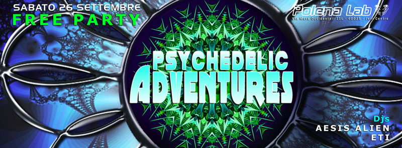 Party Flyer Psy Adventures - Free Party 26 Sep '15, 23:30