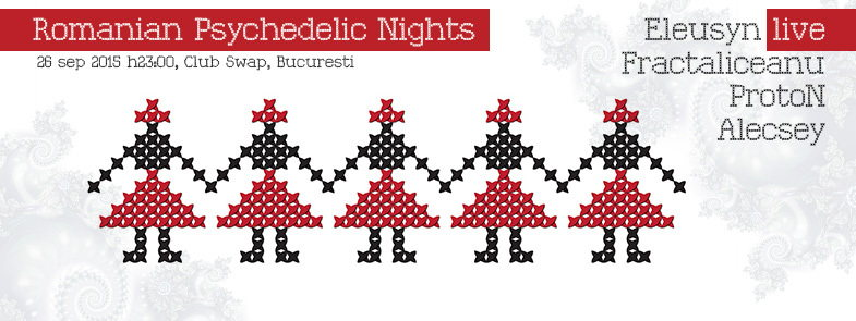 Party Flyer Romanian Psychedelic Nights 26 Sep '15, 23:00