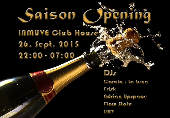 Party Flyer Saison Opening 26 Sep '15, 22:00