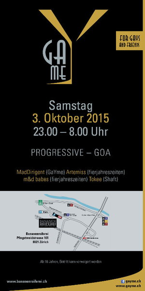 Party Flyer GaYme-Party 3 Oct '15, 23:00