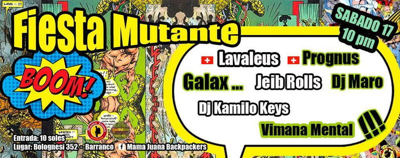 Party Flyer FIESTA MUTANTE 17 Oct '15, 22:00