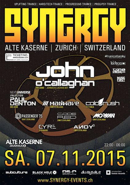 SYNERGY with John O'Callaghan 7 Nov '15, 22:00