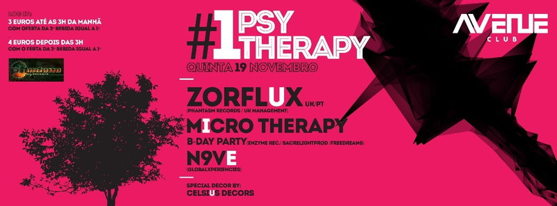Party Flyer Psy therapy #01 - Micro Therapy birthday party 19 Nov '15, 23:30