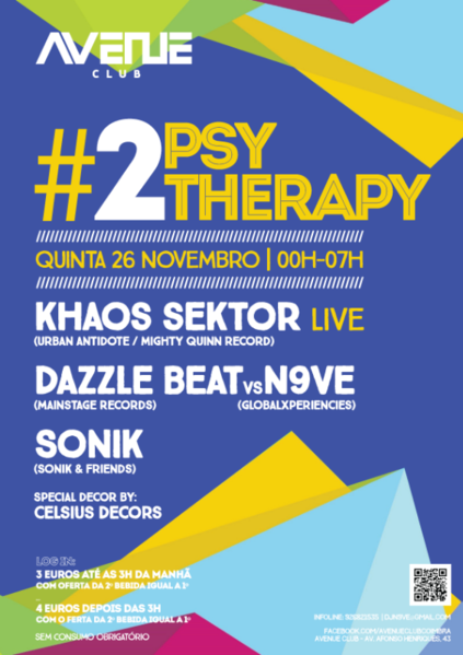 Party Flyer Psy Therapy #02 26 Nov '15, 23:30